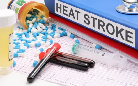 A picture of a file with heat stroke written on the spine together with capsules, blood samples, syringe and an ECG chart. License: Creative Commons 3 - CC BY-SA 3.0 Original Author: Nick Youngson - link to - http://www.nyphotographic.com/ Original Image: https://pix4free.org/photo/6787/heat-stroke.html